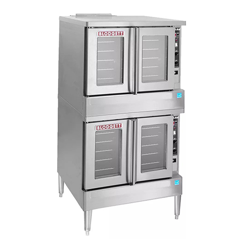 Blodgett SHO-100-E-DBL Double Standard Depth Full Size Electric Convection Oven - 3Ph, 208V
