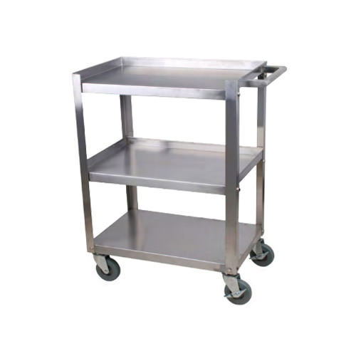 Efi Cbc1624kd 15 16 X 24 Stainless Steel 3 Shelf Utility Cart Vortex Restaurant Equipment