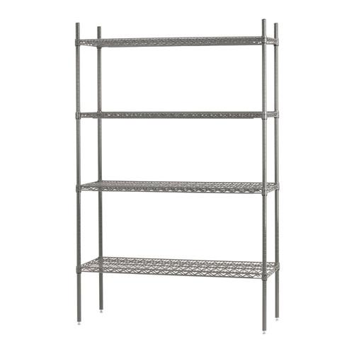 efi n s2448c 24 x 48 chrome wire shelf kit - Chrome Wire Shelving