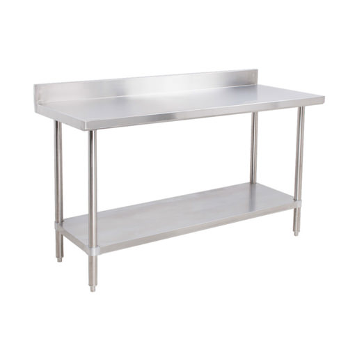EFI TB X Gauge Stainless Steel Work Table With - Stainless steel work table with backsplash