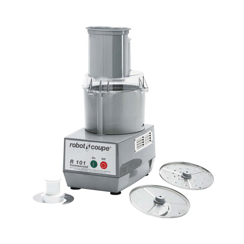 Robot Coupe R101 Continuous Feed Food Processor With 2.5 QT Grey Bowl