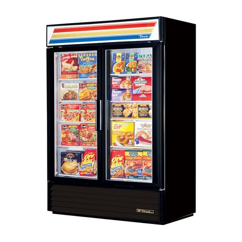 True GDM-49F-LD Double Glass Door Freezer Merchandiser