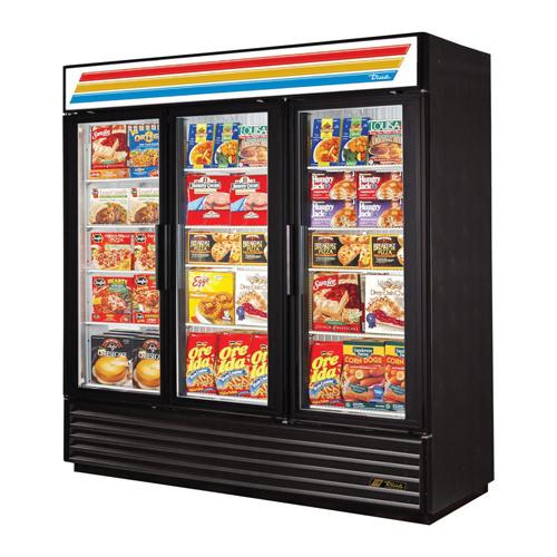 True GDM-72F-LD 3 Door Glass Freezer Merchandiser
