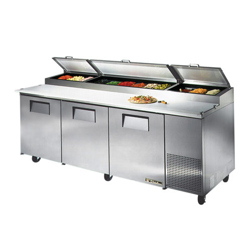 True TPP Door Pizza Prep Refrigerator Vortex Restaurant - True refrigerated prep table