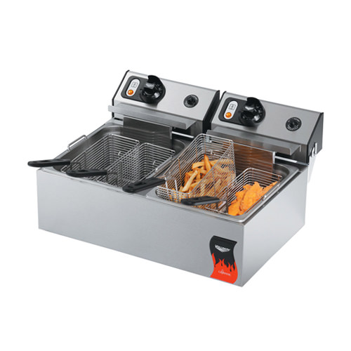Vollrath 40707 Cayenne 20 Lb Twin Pot Countertop Electric Fryer