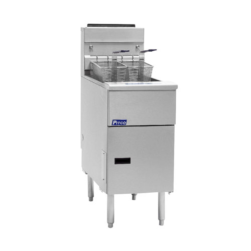 Pitco VF-65S Solstice 65 Lb Energy Star Floor Tube Fired Gas Fryer Natural Gas Fryer