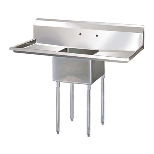 Thorinox TSS-2424-RL24 24″ x 24″ x 14″ Corner Drain One Compartment Sink With Two Drain Boards