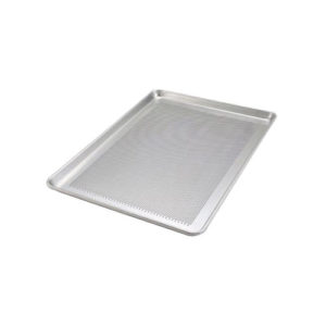 "Winco ALXP-1826P 18"" x 26"" 18 Gauge Full Size Closed Bead Aluminum Perforated Sheet Pan"