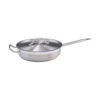Winco SSET-7 7 Qt Premium Stainless Steel Saute Pan With Cover