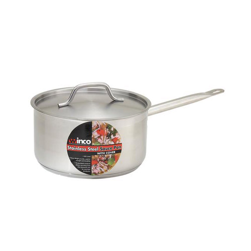 Winco SSSP-3 3 Qt Premium Stainless Steel Sauce Pan With Cover