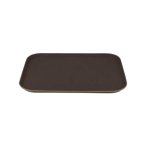 14-Inch Round Non-Slip Fiberglass Tray Winco TFG-14K Black