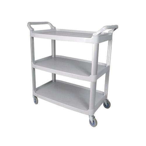 Winco UC-2415G 17″ x 36″ Plastic 3 Shelf Utility Cart Grey