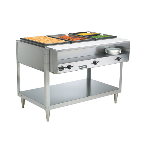 Vollrath 38118 ServeWell 4 Pan Electric Hot Food Table - 208 Volts