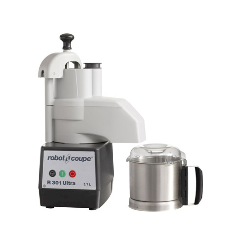 Robot Coupe R301-ULTRA Continuous Feed Food Processor With 3.5 QT Stainless Steel Bowl