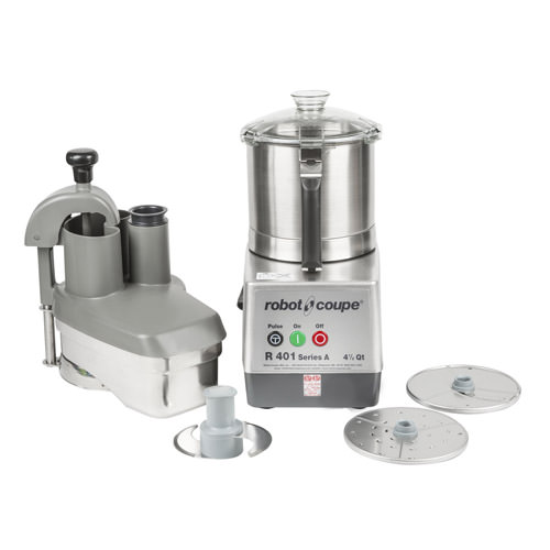 Robot Coupe R401 Continuous Feed Food Processor With 4.5 QT Stainless Steel Bowl