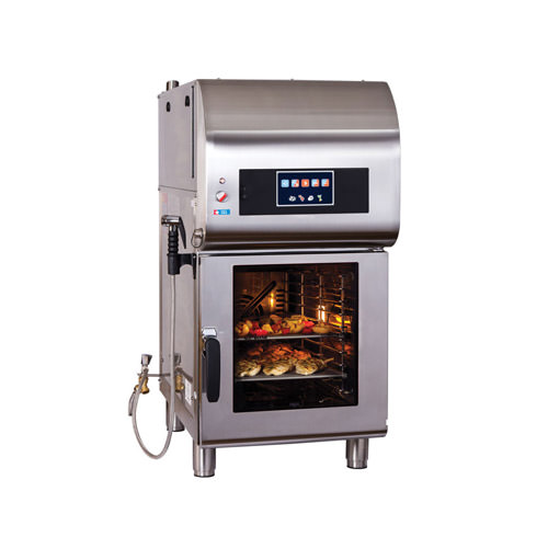 Alto-Shaam CTX4-10EVH Express 10 Pan Half Size Electric Combi Oven With Ventless Hood - 1Ph, 208V