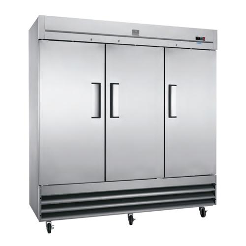 """Kelvinator KCBM72F 81"""" 3 Door Reach In Freezer"""