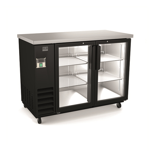 Kelvinator KCBB48GB 48″ 2 Door Glass Back Bar Refrigerator