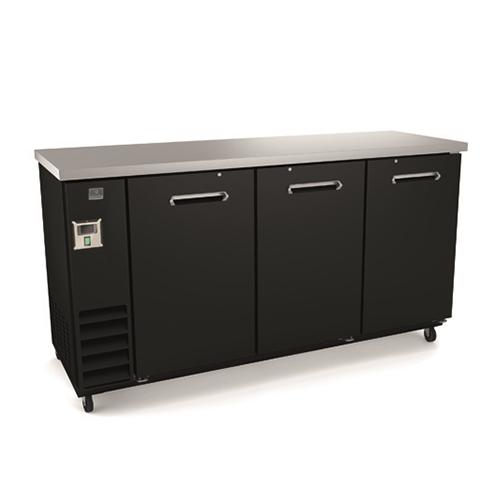 Kelvinator KCHBB72S 73″ 3 Door Solid Back Bar Refrigerator