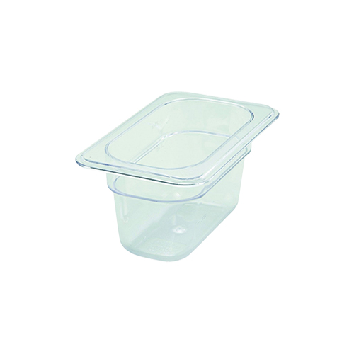Winco SP7904 1/9 Size Polycarbonate Food Pan - 4'' Deep