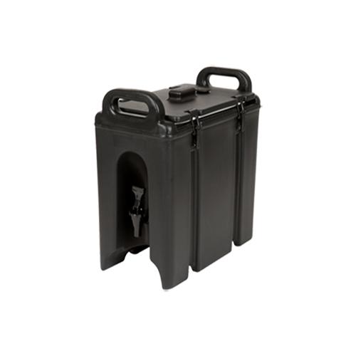 Cambro 100LCD110 Camtainer 1.5 Gallon Black Insulated Beverage Dispenser