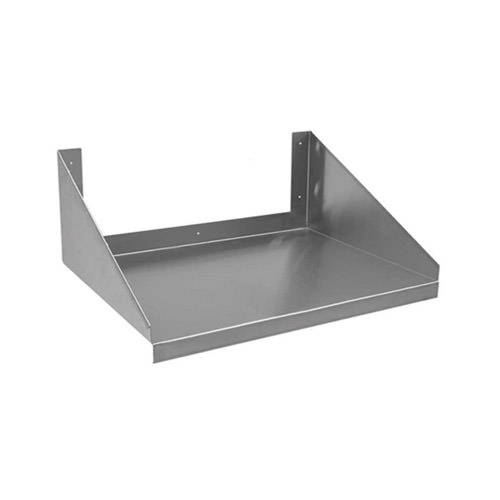 efi wmms1824 18 gauge stainless steel wall mount microwave shelf