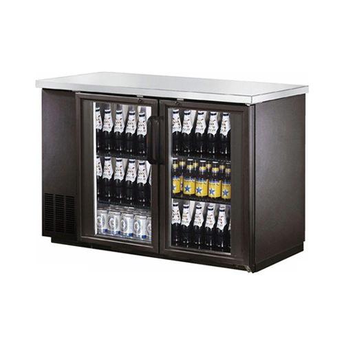 New Air Nbb 60 Sg 59 2 Door Glass Back Bar Refrigerator Vortex