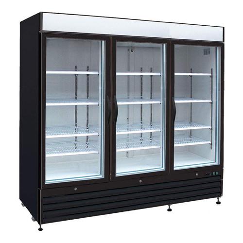 EFI C3-82GDVC Three Swing Door Glass Refrigerator Merchandiser