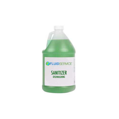 Fluid CHLORINATED-4 4L Low Temp Warewashing Sanitizer - 4 / Case