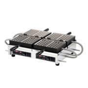 """Krampouz WECCBBAT 4"""" x 6"""" Brussels-Style Double Belgian Waffle Maker"""