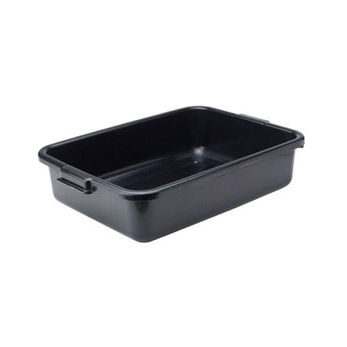 Winco PL-5K Black Polypropylene Dish Box - 5