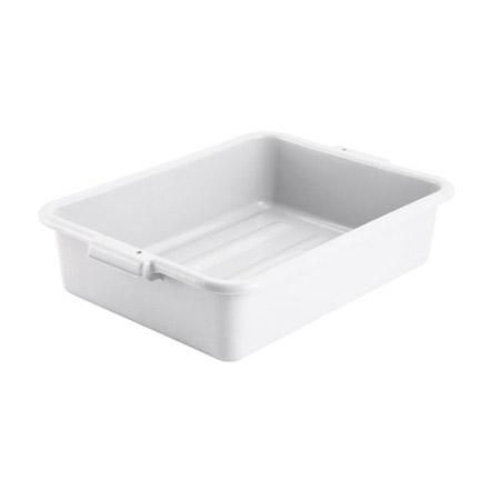 Winco PL-5W White Polypropylene Dish Box - 5