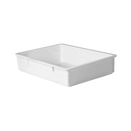 Winco PL-6N White Polypropylene Pizza Dough Box - 6