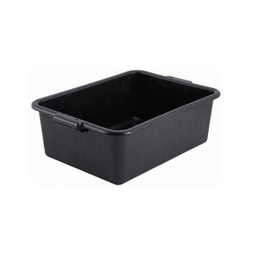 Winco PL-7K Black Polypropylene Dish Box - 7