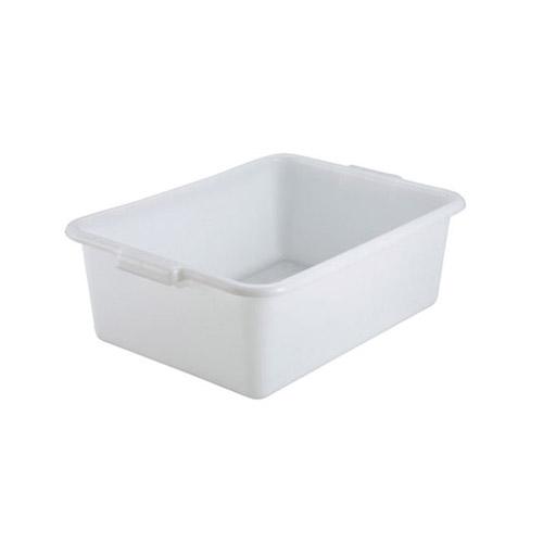 Winco PL-7W White Polypropylene Dish Box – 7″ Deep