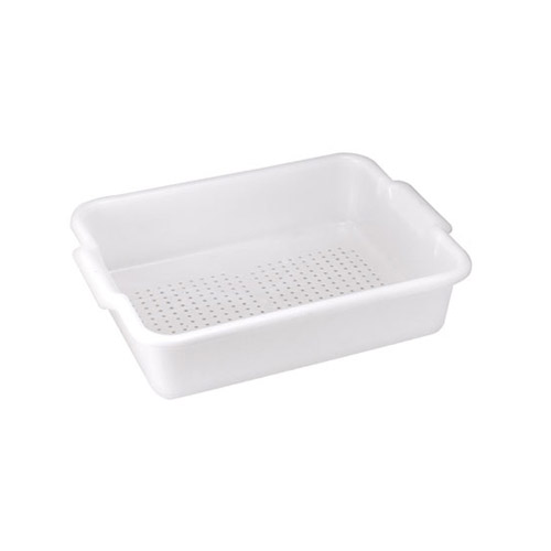 Winco PLP-5W White Perforated Dish Box- 5