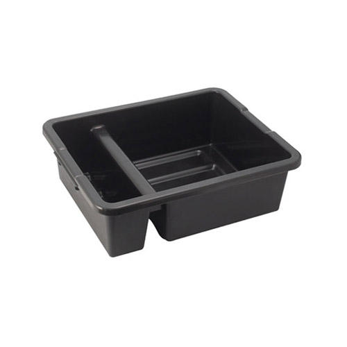 Winco PLTC-7K Black Divided Dish Box - 7