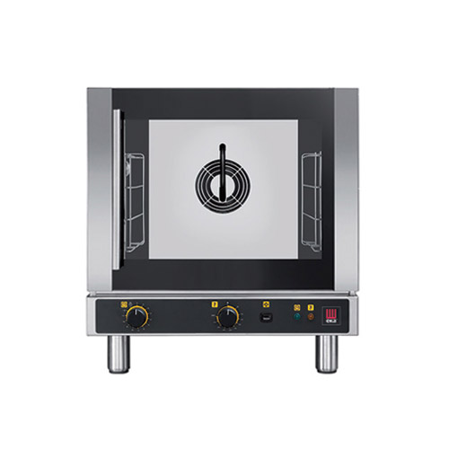 EKA EKFA412-ALUD Half Size Countertop Manual Electric Convection Oven With Humidity - 1Ph, 208V