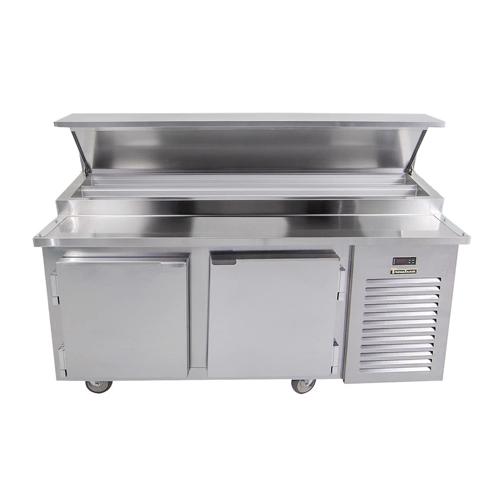 Traulsen TB060SL2S 60″ 2 Door Pizza Prep Refrigerator