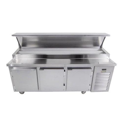 Traulsen TB091SL3S 91″ 3 Door Pizza Prep Refrigerator