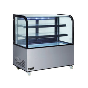 "EFI CGCM-4848 48"" Curved Glass Floor Refrigerated Bakery Case"