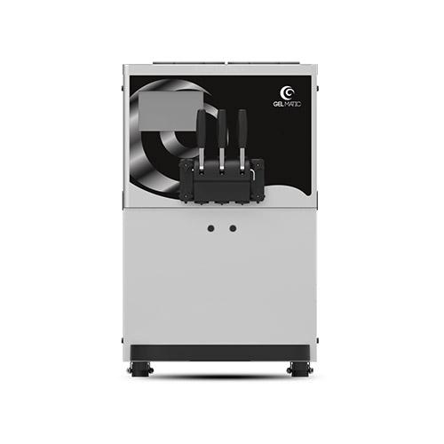 Gel Matic BC-250-GR Countertop Twin Twist Soft Serve Ice Cream Machine With Three Hopper