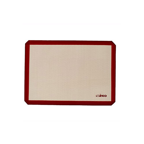 Winco SBS-11 1/4 Size Rectangular Silicone Baking Mat