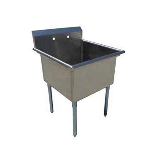 EFI SI818-1NC-E 18″ x 18″ x 13″ Economy Center Drain One Compartment Sink With No Drain Board