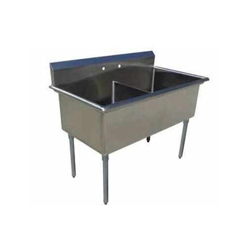 EFI SI818-2NC-E 18″ x 18″ x 13″ Economy Center Drain Two Compartment Sink With No Drain Board
