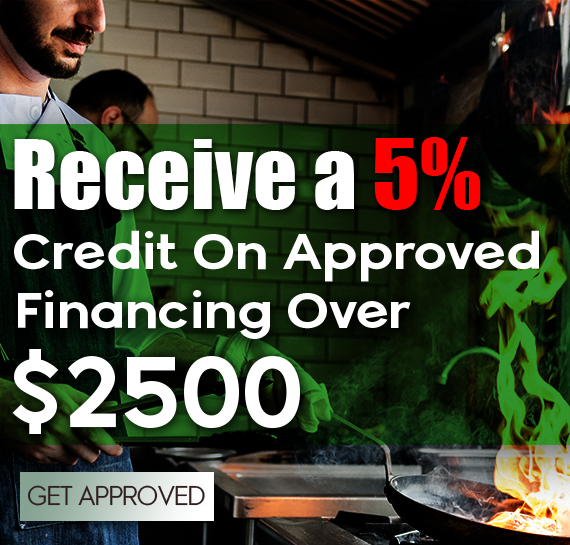 Receive 5% Credit on Approval Over $2500