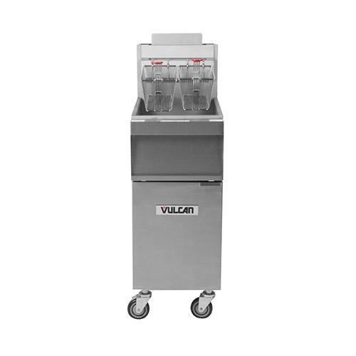 Vulcan 1GR45M 45 Lb High Efficiency Floor Tube Fired Natural Gas Fryer