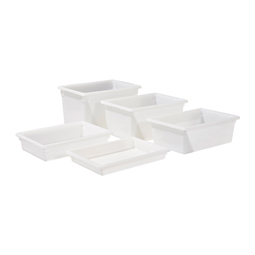 Winco PFFW-15 Full Size White Food Storage Box - 15