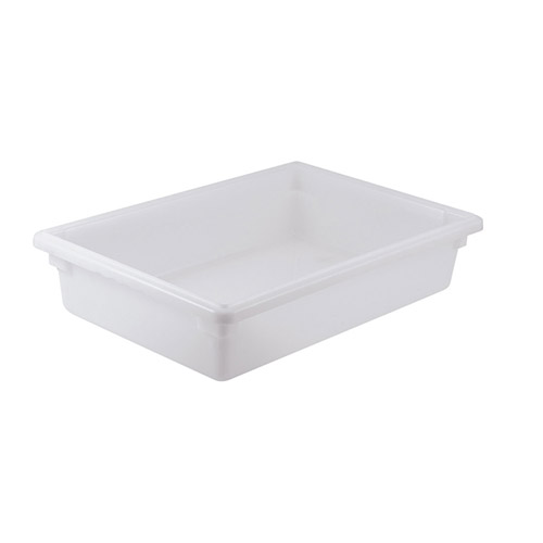 Winco PFFW-6 Full Size White Food Storage Box - 6