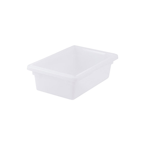 Winco PFHW-6 Half Size White Food Storage Box - 6